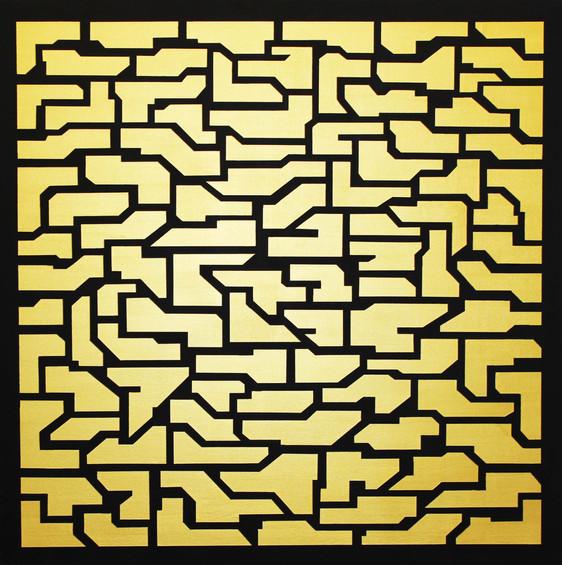 Labyrinth, acrylic on canvas, 100x100cm, 2017