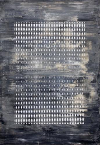 Dialogs 2,100x70cm, acrylic on canvas, 2018