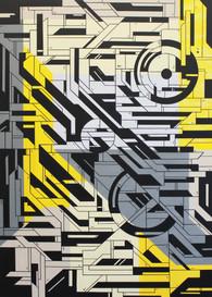 Breaking point, acrylic on canvas, 140x100cm, 2017