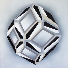 Light & Shapes 2. , acrylic on canvas, 50x50cm, 2019