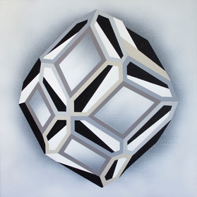 Light & Shapes 2. , acrylic on canvas, 50x50cm, 2019