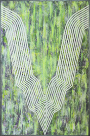 Static is dynamic, acrylic on canvas, 100x150cm, 2018
