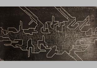 Hidden structure, linocut, 50x70cm,  2017