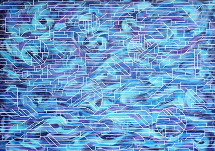 Elements in movement, acrylic on canvas, 140x100cm, 2017
