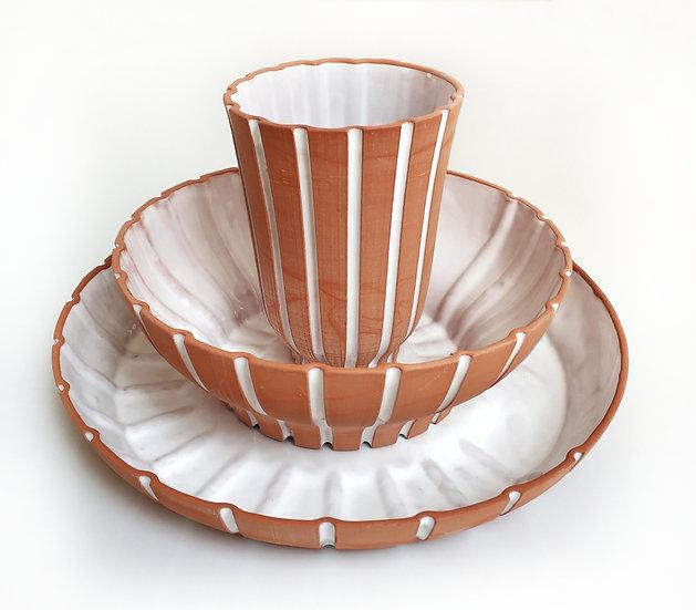 כוס טרה קוטה סדרת שורשים עדן חברוני