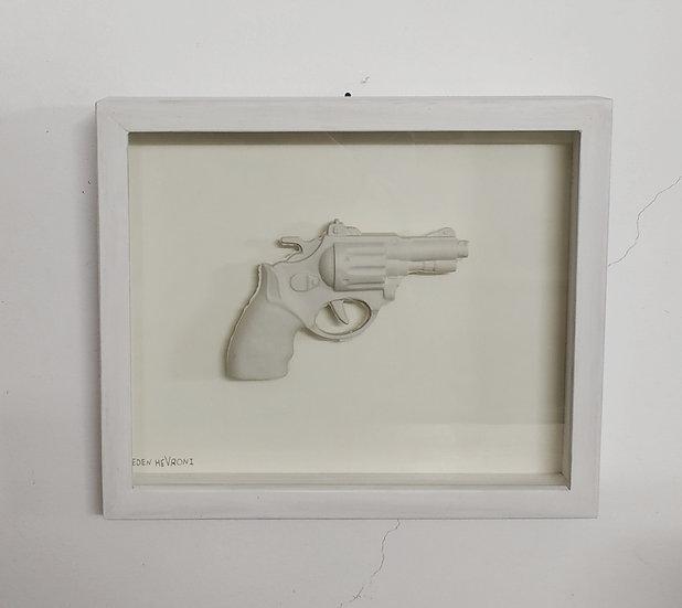 Porcelain Gun sculpture eden hevroni