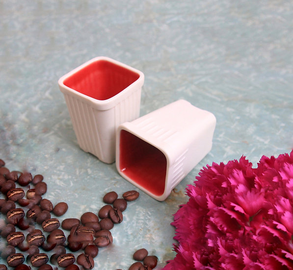 Set of 2 planter style Espresso Cup Eden Hevroni Coffee lover