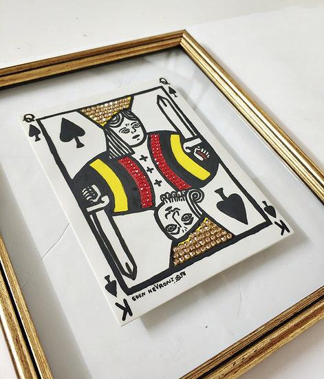 קלפים מפורצלן, קלף המלך - מלכה, עדן חברוני