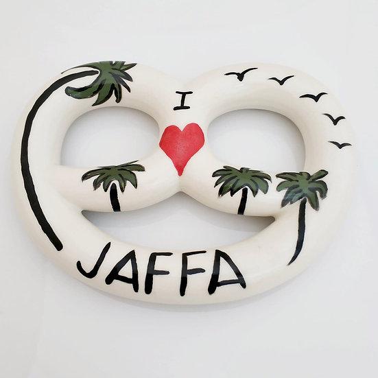 Ceramic Pretzel - I LOVE JAFFA Eden hevroni