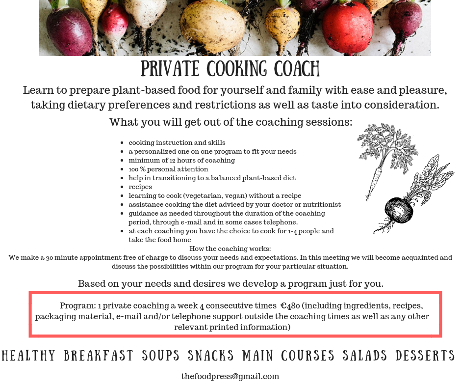 Private Cooking Coach. Learn to prepare
