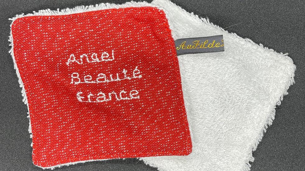 Lingette démaquillante lavable Carrée Rouge