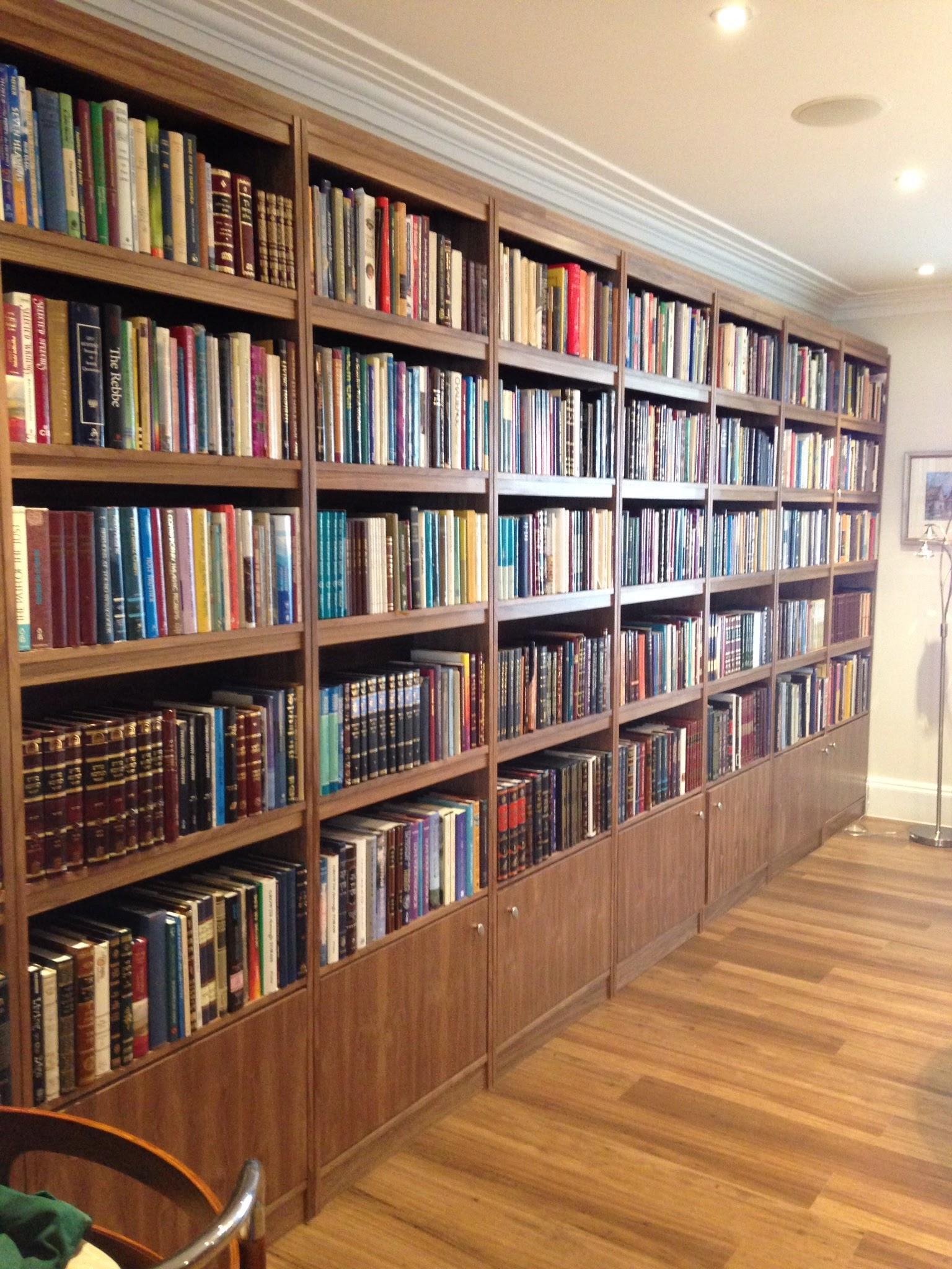 Walnut bookcases Hnedon