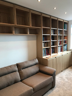 Fitted oak bookcases