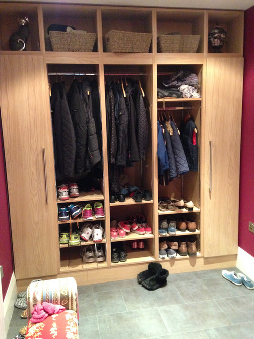 Oak boot room