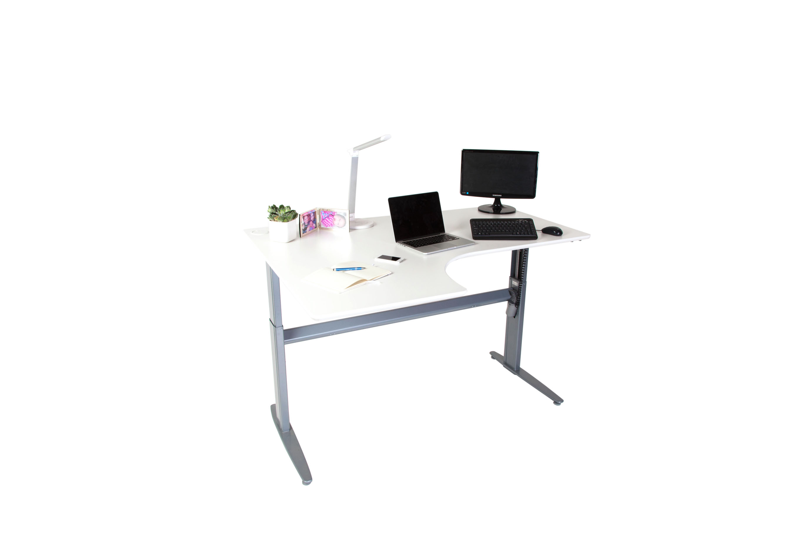 White L-Shaped Desk