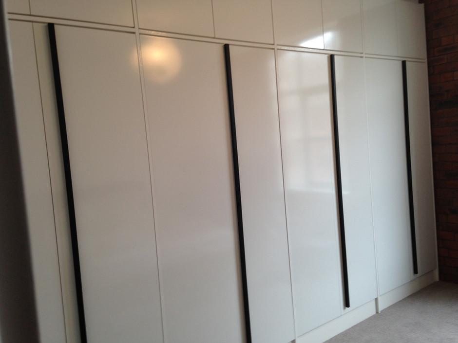 High gloss white wardrobes