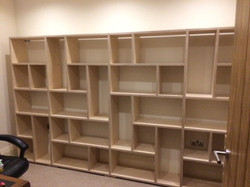 Assymetric storage unit in birch ply