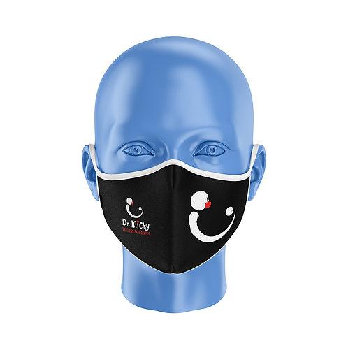 Masque Dr Micky Noir et blanc