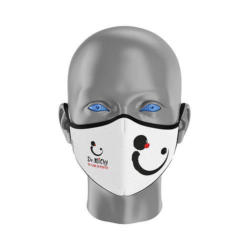 Masque Dr Micky Blanc et noir