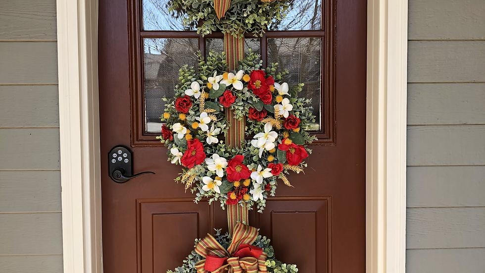 Triple Wreath Decor