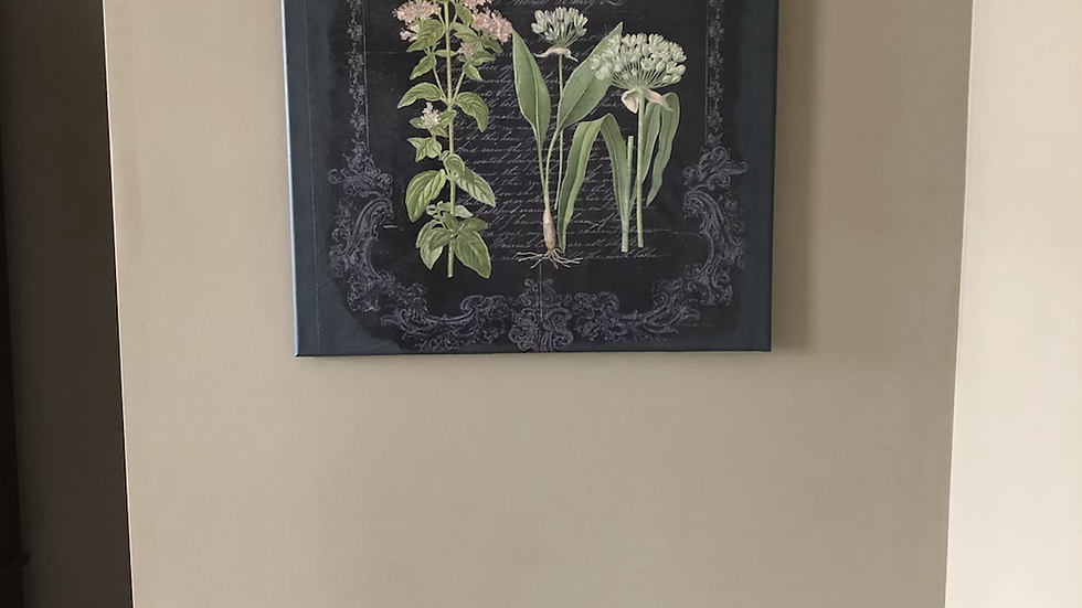 Butterfly flower canvas hanging  (custom order)