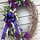 Thumbnail: Purple rose & tulip grapevine wreath