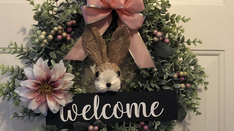 Bunny Welcome Wreath