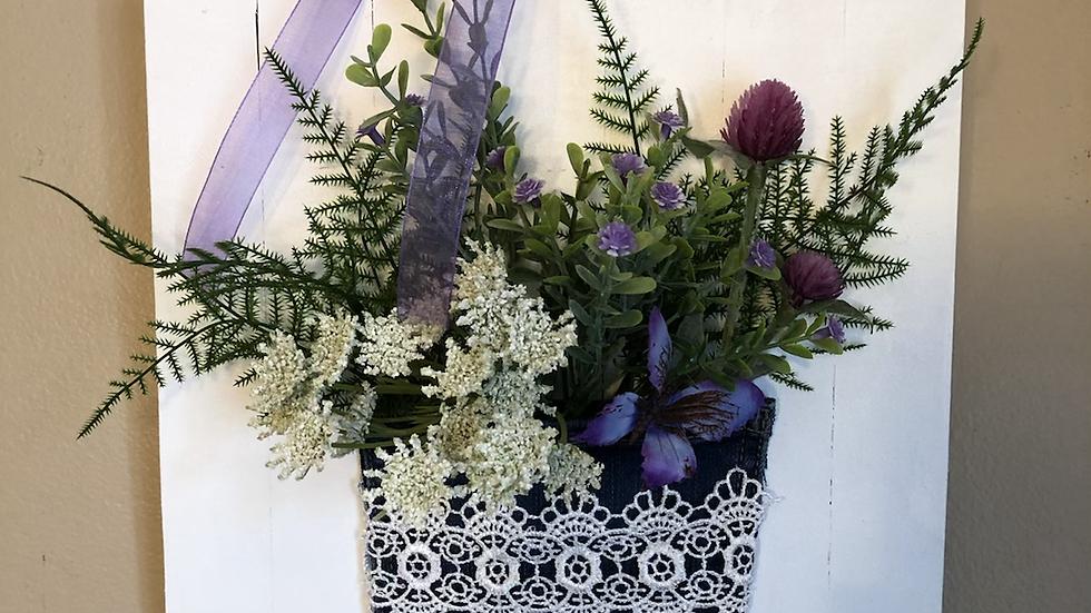 Pocket Full of Flowers hanging sign