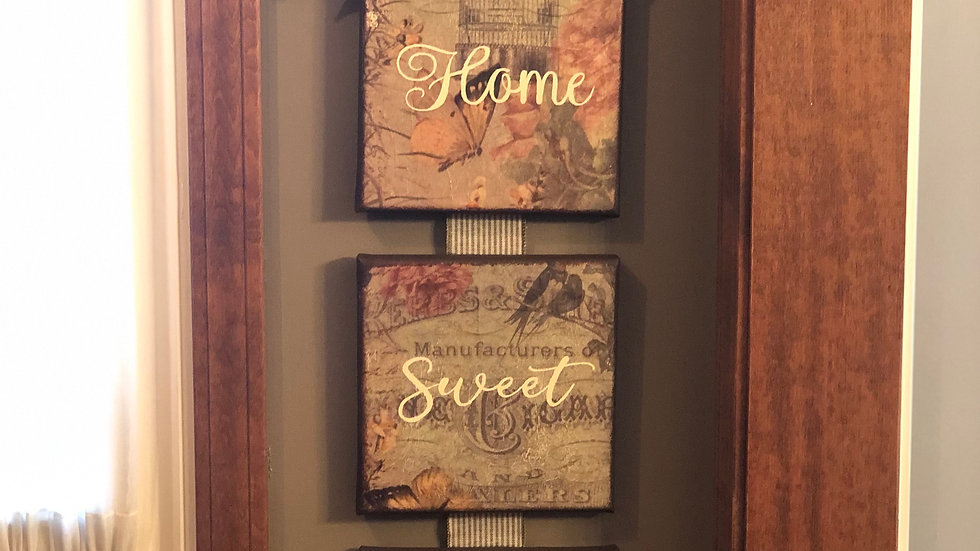 Home Sweet Home hanging sign (custom order)