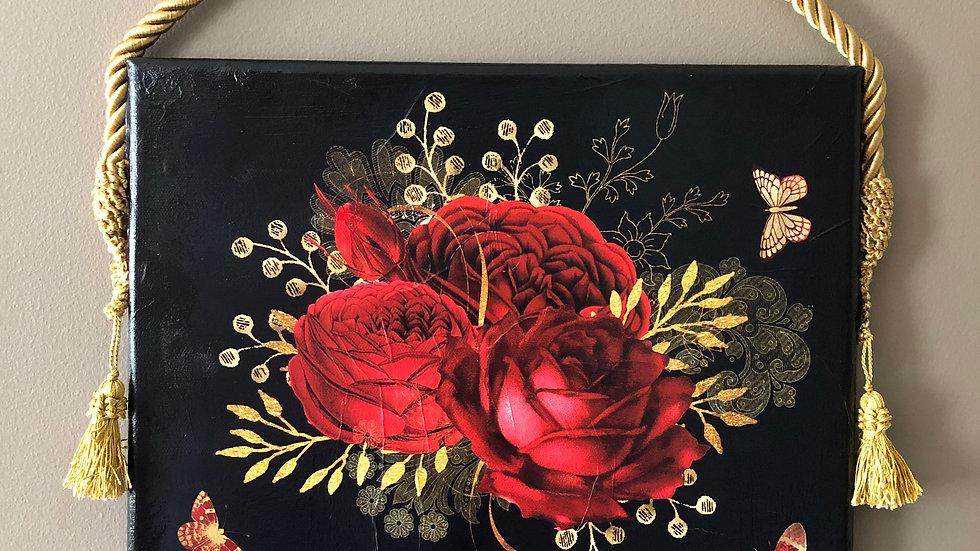Butterflies & Flowers Canvas Art