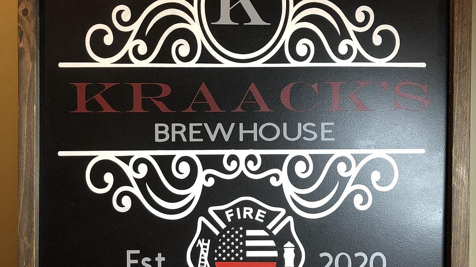 Framed Custom Pub Sign