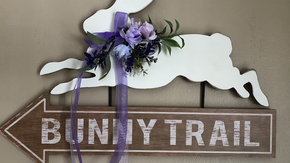 Bunny Trail hanging sign