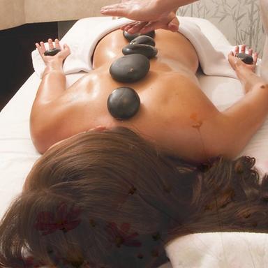 Masaje Relajante 80 min + sellado piedras calientes