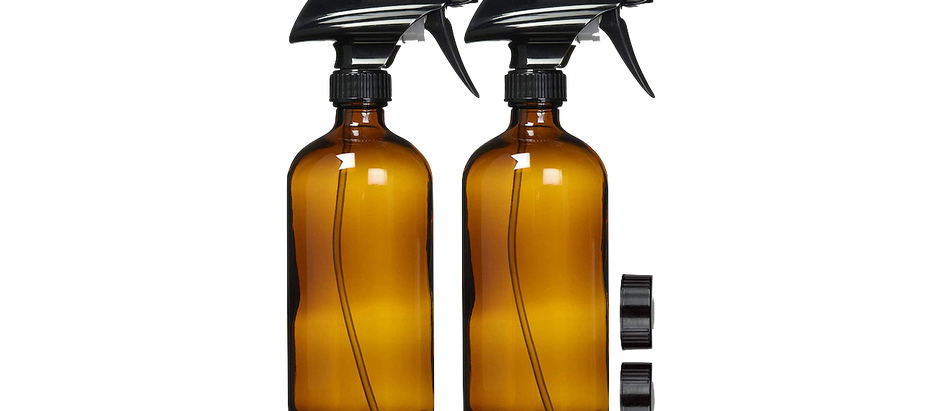 Amber Glass Spray Bottles (2) - $19.98 (20% off)