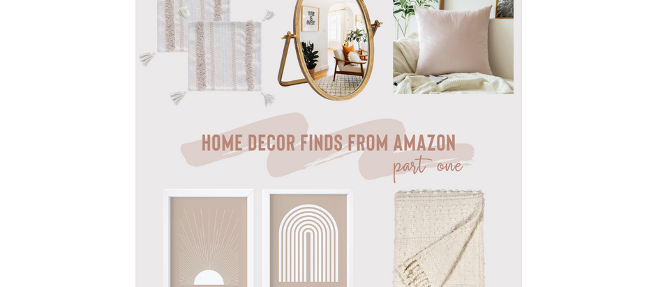 Home Decor Finds from Amazon - Part One