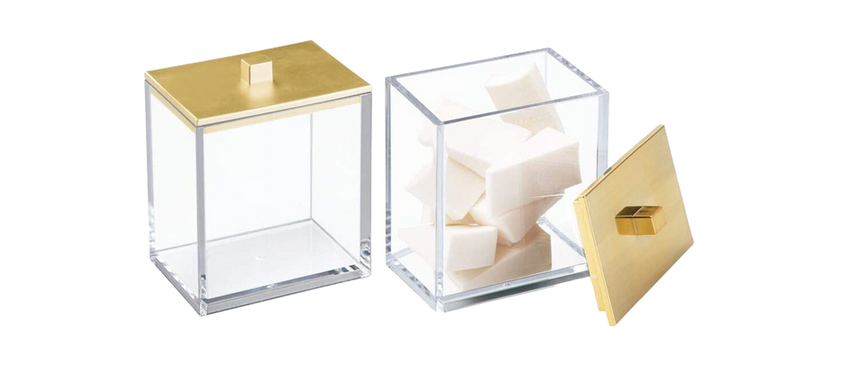 Modern Square Bathroom Canisters - $13.99 (18% off)