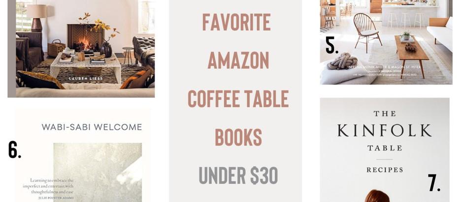 Favorite Amazon Coffee Table Books - Under $30