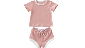 Baby & Toddler Solid Outfit Set - $13