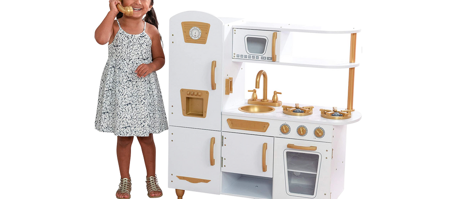 Kids Retro Play Kitchen - $71.41 (45% off)