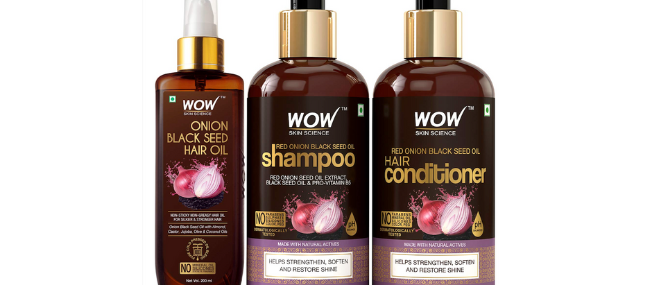 WOW Red Onion Black Seed Oil Shampoo + Conditioner