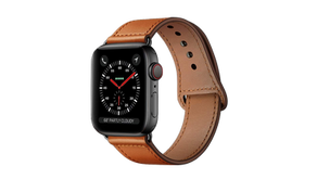 Men's Leather Apple Watch Band - $11.99 (54% off)