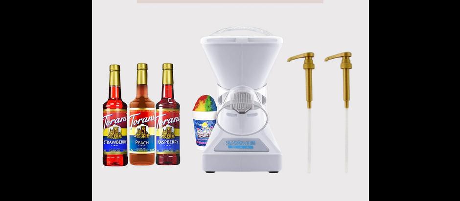 Snow Cone Machine + Syrups