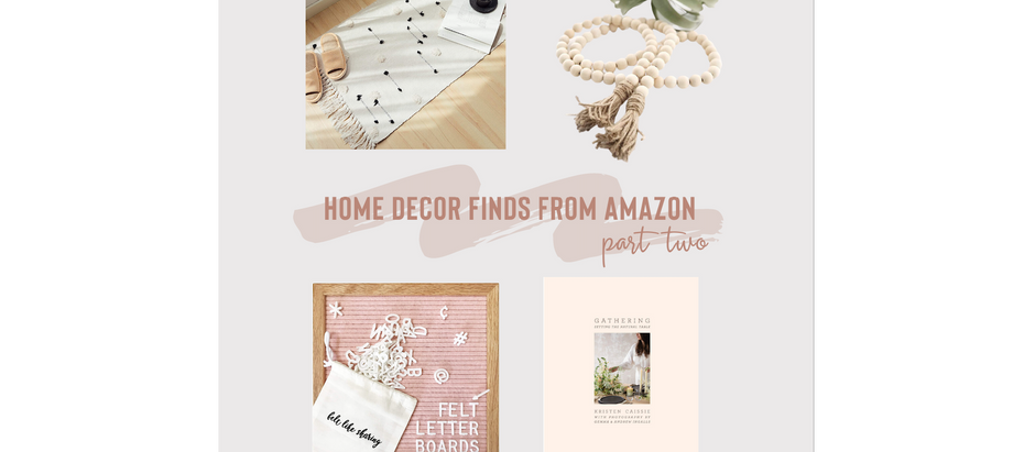 Home Decor Finds from Amazon - Part Two