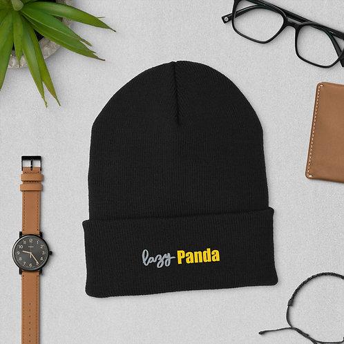 Lazy Panda Cuffed Beanie