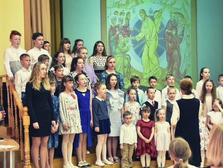 В Елгаве состоялся Пасхальный концерт с участием детей Воскресной школы
