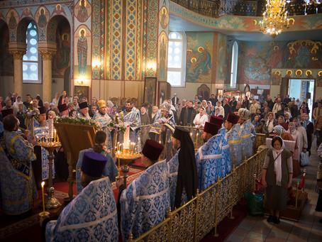 В КАНУН ПРАЗДНИКА СРЕТЕНИЯ ТИХВИНСКОЙ ИКОНЫ В РИГЕ СОСТОЯЛОСЬ ОБЩЕГРАДСКОЕ БОГОСЛУЖЕНИЕ
