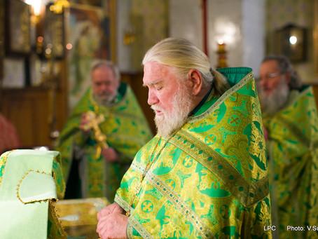 Божественная литургия в день памяти прп. Сергия Радонежского