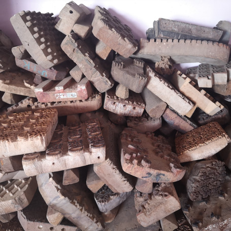 carved wooden blocks