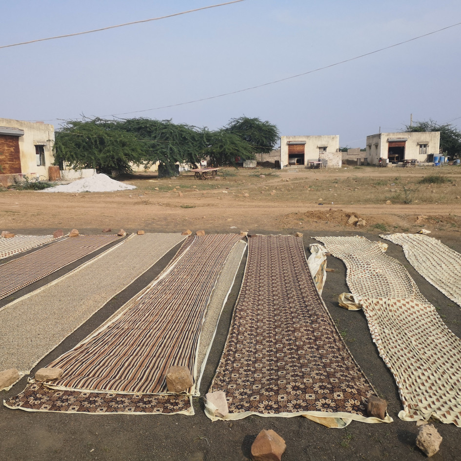 Blockprintet organic cotton naturally dyed