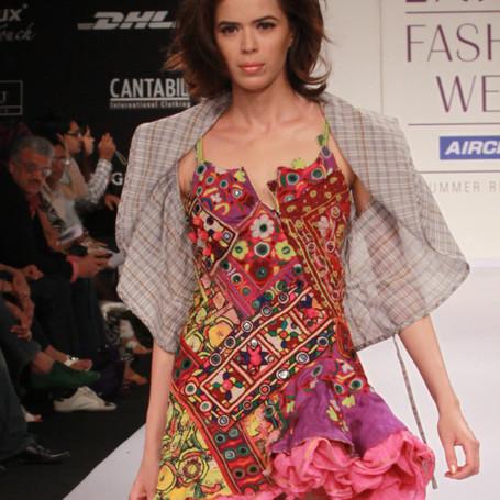 Dress by Miriam Strehlau, Lakme Fashion Week, Mumbai